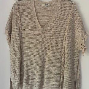 MADEWELL Short Sleeve Sweater with Fringe